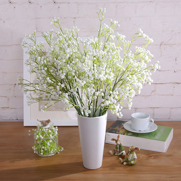 White Artificial Decorative Flowers For Wedding Plastic Home Decoration Artificial Flowers Bed Room Decorative Flowers P0.25