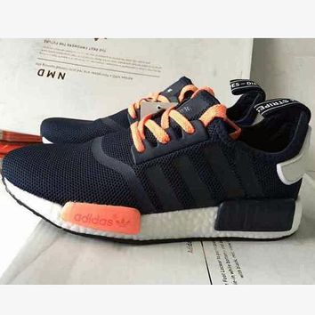 """Adidas"" NMD Trending Fashion Casual Sports Sneakers Shoes Navy blue"