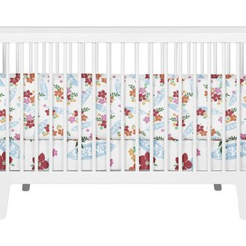 Surfer Girl Hawaiian Surf Baby Crib Bedding Set