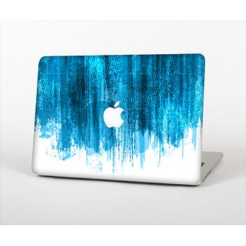 The Brushed Vivid Blue & White Background Skin Set for the Apple MacBook Air 13""