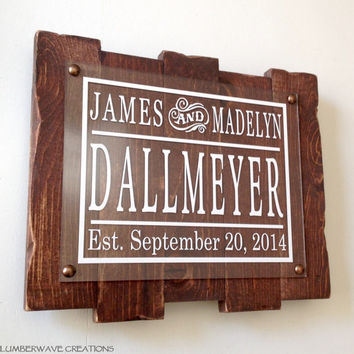 Personalized Family Name Sign Personalized Last Name Sign Rustic Family Established Sign With Distressed Wood 12x10