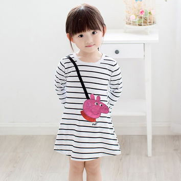 Pink Pig Striped Dress