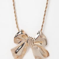 Diament Jewelry For Urban Renewal Large Bow Necklace