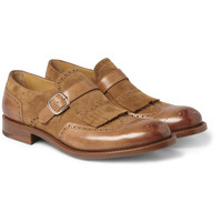 O'Keeffe - Algy Tasselled Leather and Suede Monk-Strap Brogues | MR PORTER