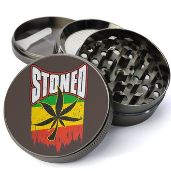 Rasta Leaf XL Metal 4 Chamber Herb Grinder With Fine Screen - Cheap Custom Grinders