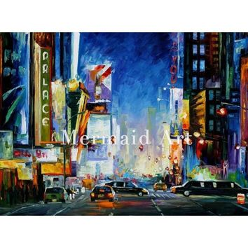 Broadway Oil Painting