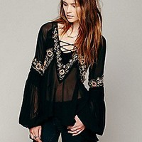 Free People  Paths of Fancy Blouse at Free People Clothing Boutique