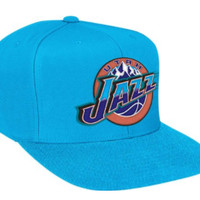 Utah Jazz Logo Solid Blue Adjustable Snapback Hat / Cap