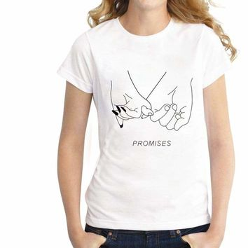 Love promises Printed Girl Short Sleeve Top T Shirt