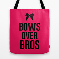 Bows over Bros Hot Infra Pink Tote Bag by RexLambo