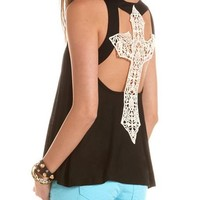 Crochet Cross Knit Tank: Charlotte Russe