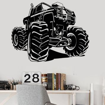 Vinyl Wall Decal Monster Truck Garage Decor Car Stickers Unique Gift (ig3906)