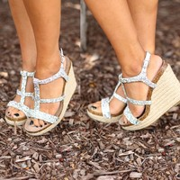 Twinkle Toes Wedges in Silver by Betsey Johnson