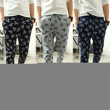 Men's Fashion Print Pants Men Casual Sportswear