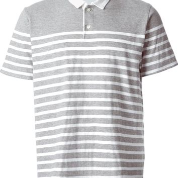 Sacai striped polo shirt