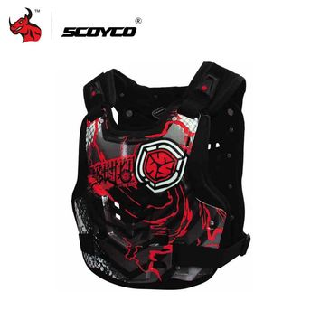 SCOYCO Men's Racing Motorcycle Armor Protector Armor Vest Red And Yellow Body Protector Vest Chest Armor