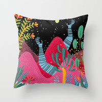 Pinky Throw Pillow by Zsalto