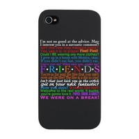 Friends TV Quotes iPhone Snap Case on CafePress.com