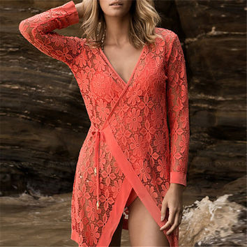 Laced Beach Cover Up For Ladies