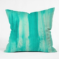 Madart Inc. Modern Dance Aqua Passion Throw Pillow