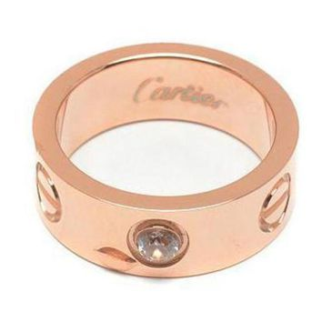 CREYUP0 Cartier Woman Fashion LOVE Diamond Plated Ring For Best Gift-1