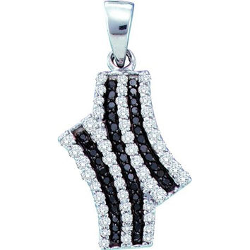 Diamond Fashion Pendant in 10k White Gold 0.47 ctw