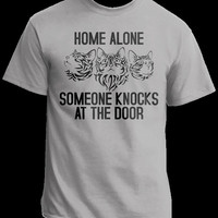 Funny T shirt Sayings, Cats On T-shirts , Graphic Tees For Men and Women, Home Alone T-shirts