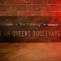 Entourage Hand Painted Sign.