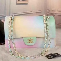 Day-First™ CHANEL Chanel Rainbow gradient Printed Caviar Medium Bag