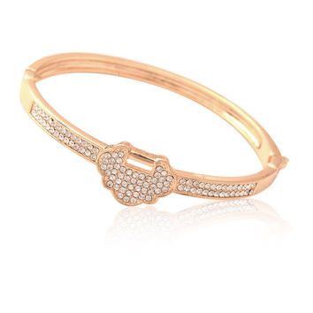Hot Sale Shiny Stylish Awesome Great Deal New Arrival Gift Lock Bangle Simple Design Accessory Gifts Bracelet [6045004545]