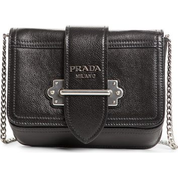 Prada Glace Cahier Calfskin Leather Convertible Belt Bag | Nordstrom