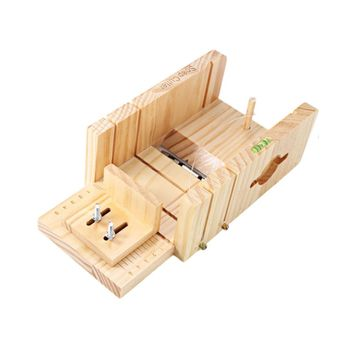 Wooden Soap Mold Cutting Tools Handmade soap cutter box Wooden box Fondant Soap Making Supplies Pine Material Resin Soap box