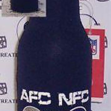 SUPER BOWL 42 XLII GIANTS PATRIOTS BOTTLE KOOZIES *NEW*