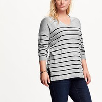 Old Navy Striped Plus Size Tunic Sweater