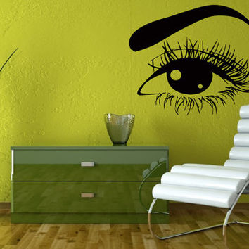 Wall Vinyl Sticker Decal Woman Eye Art Design Room Nice Picture Decor Hall Wall Chu323