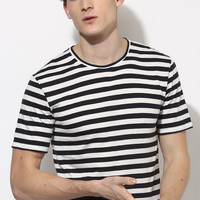 Organic Cotton Black Stripe T-Shirt