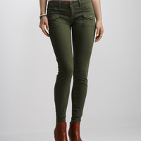 Color Wash Cargo Jegging