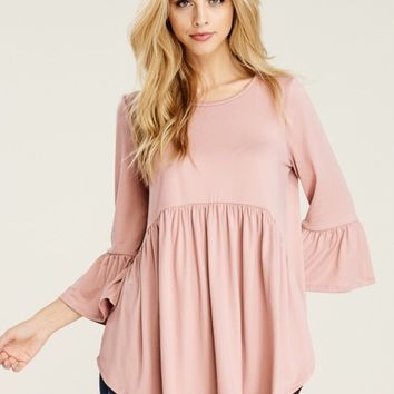 Paisley Baby Doll Tunic - Rose