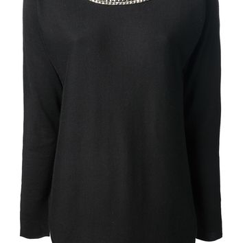 Michael Michael Kors Embellished Collar Sweater