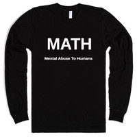 MATH Mental Abuse To Humans-Unisex Black T-Shirt