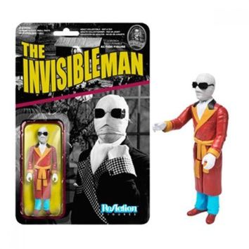 "Funko ReAction 3.75"" Action Figure Universal Monsters Series 1 The Invisible Man"
