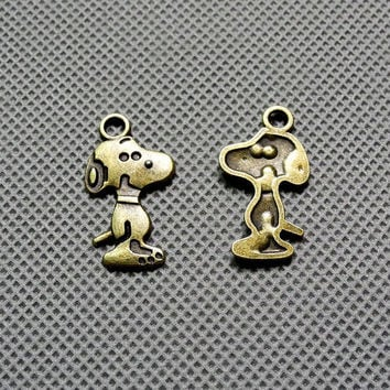 3x Making Jewellery Supply Supplies DIY anhaenger Jewelry Findings Charms Schmuckteile Charme 4-A2747 Puppy Snoopy