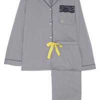 Heidi Klum Intimates - Imprime Vichy gingham cotton-blend pajama set