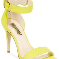 INC INTERNATIONAL CONCEPTS REIDI TWO-PIECE SANDALS YELLOW NUBUCK 5M