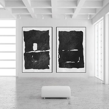 large Abstract art minimal painting on canvas handmade Original Acrylic Painting black and white extra large wall decor minimal art cowboy