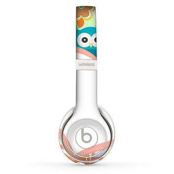 The Cartoon Owls with Big Heart Skin Set for the Beats by Dre Solo 2 Wireless Headphones