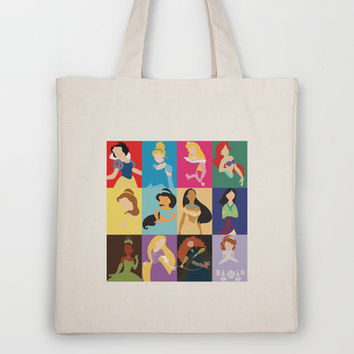 Disney Princesses Tote Bag by Adrian Mentus