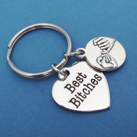 Best bitches , Promise, Keychain, Keyring, Best, Friend, Key chain, Key ring, Key, Chain, Friendship, Jewelry, Gift, Accessories
