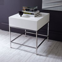 LACQUER STORAGE SIDE TABLE