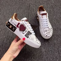 New DOLCE & GABBANA D&G Women Fashion Leisure Running Sneakers Sport Shoes Size 36-40